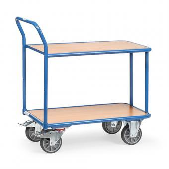 fetra Tischwagen aus Stahlrohr mit Holzböden