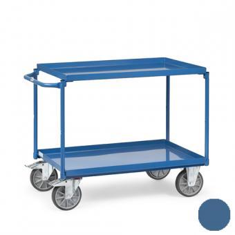 fetra Tischwagen mit 2 öldichten Wannen ( brillantblau oder anthrazitgrau )