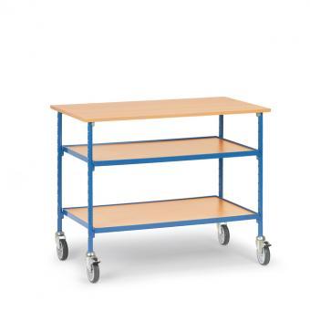 fetra Rolltisch mit 2 verstellbaren Etagen