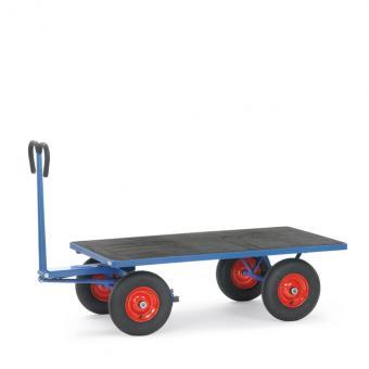 fetra Handpritschenwagen Drehschemellenkung Ladefläche Siebdruckplatte